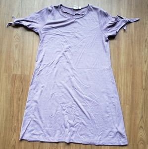 Lavender t shirt dress
